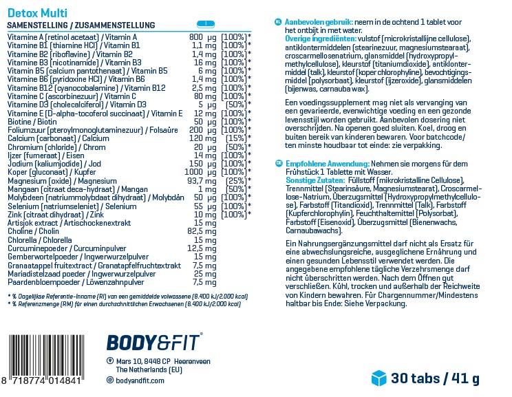 Body & Fit Detox Multi | Detoxikační multivitamín | kupuj naFitnessMuscle.eu